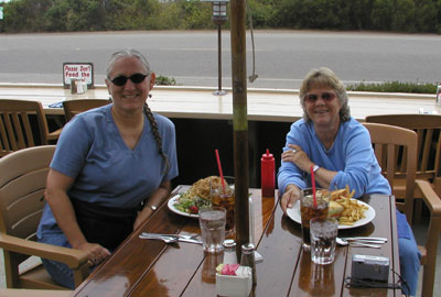 Photo of Jennifer and Laura at Moonstone Beach Bar & Grill